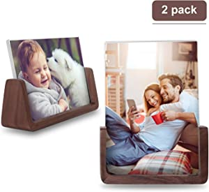 LezGo Picture Frame (2 Pack)- Photo Frame Made of Solid Wood Acrylic High-Definition Glass for Table Top Display… (4x6)