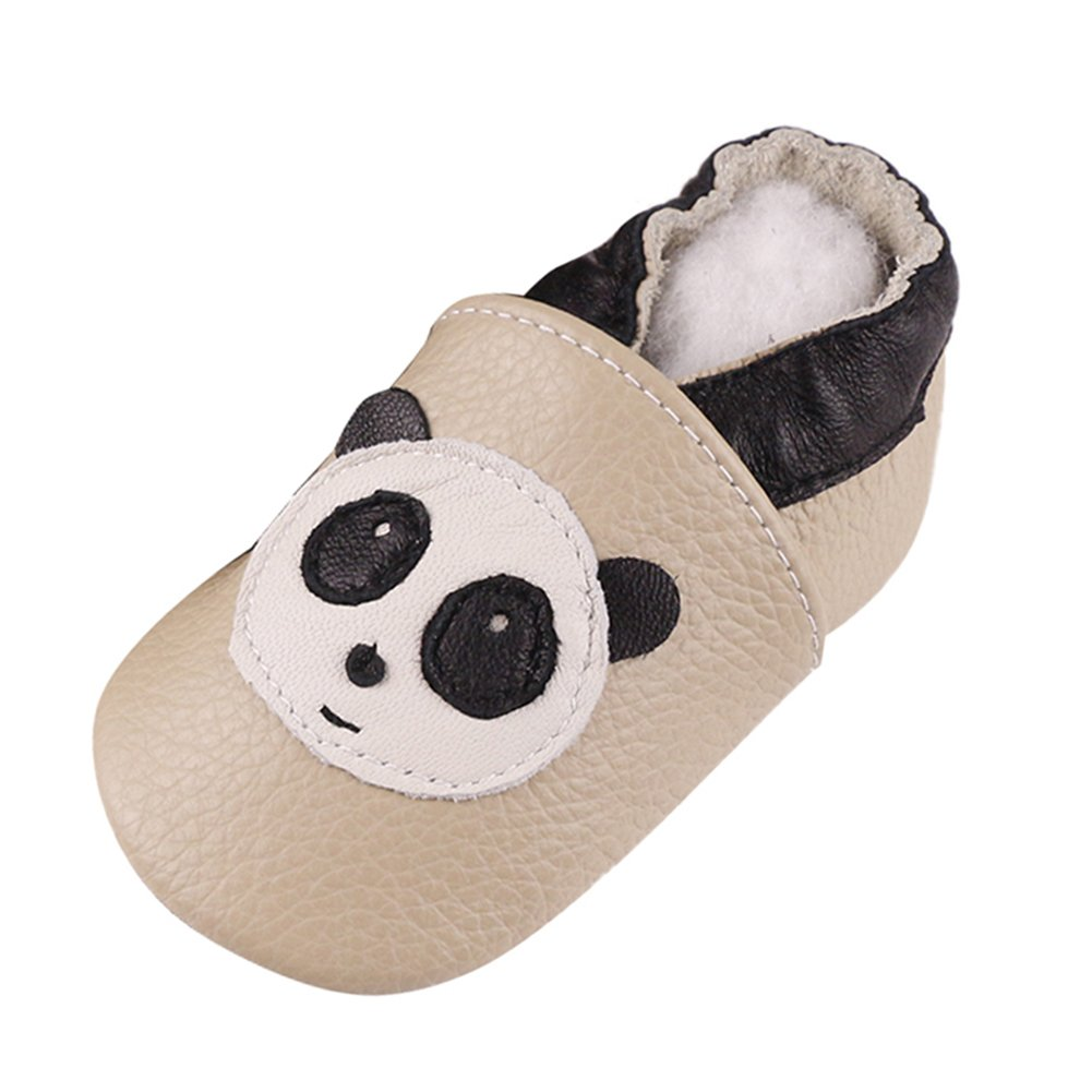 LSERVER Baby Boys Girls 0-2Yrs Months Toddlers Soft Sole Leather Infant Shoes Crib Shoes