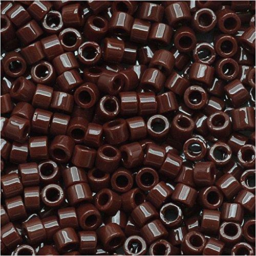 Miyuki DB734 Delica Seed Beads, 7.2g, Opaque Chocolate Brown ()