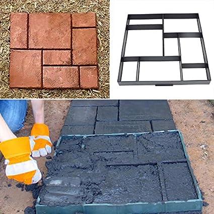 [envío gratuito] 51 cm jardín DIY plástico camino eléctrica modelo Road pavimentación de cemento