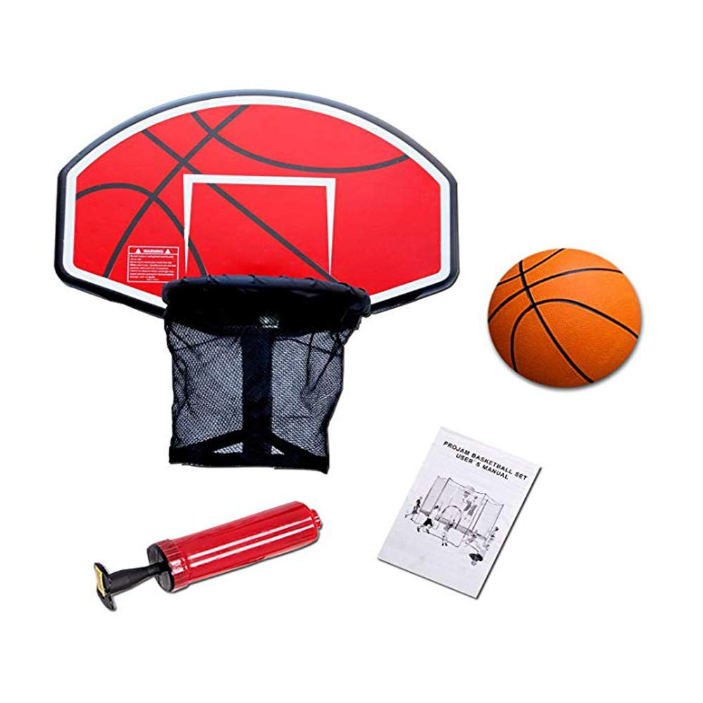 Galactic Xtreme Trampoline Outdoor Basketball Hoop & Inflatable Basketball | Easy Install | Includes Hand Pump with Inflation Needles by Happy Trampoline