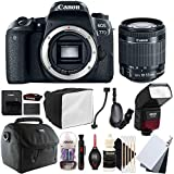 Canon EOS 77D 24.2MP Digital SLR Camera with 18-55mm EF-IS STM Lens , SFD-740C Speedlite Flash and Accessory Kit