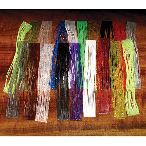 Hareline Crazy Legs Chartreuse/Silver Flake