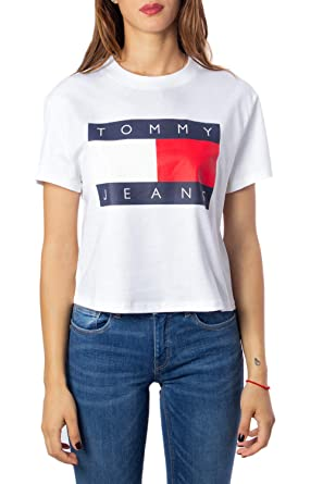 info for 26c45 c127a Tommy Hilfiger T-Shirt Donna Tommy Flag Tee dw0dw07153 ...
