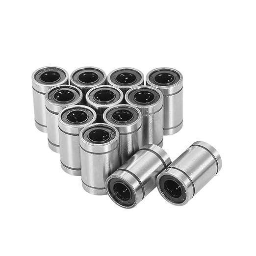 KKmoon 12pcs LM8UU rodamientos lineales para 8 mm RepRap Prusa ...