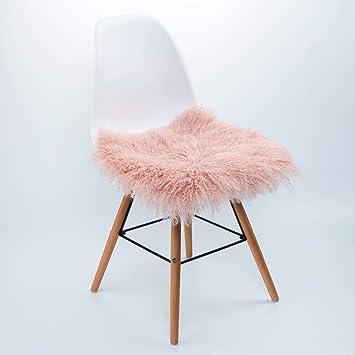 Fell Stuhlauflage Sitzauflage Sitzkissen Kissen Fellkissen Lammfell Schaffell