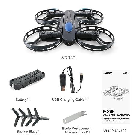 Drón de selfie plegable con cámara, JJRC H45 BOGIE Wifi FPV Drone ...