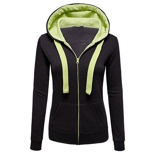 Chaqueta Hiroo Mujer Talla extra Caliente Hoodies Hoody Sweatershirt Sudadera con capucha Chaqueta d...