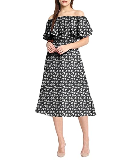 b8e21f52717d5 LoveURAPpearance Off Shoulder Designer Dress   Dress For Womens   Petite  And Plus Size Women Dresses (LU2160212-4)  Amazon.in  Clothing   Accessories