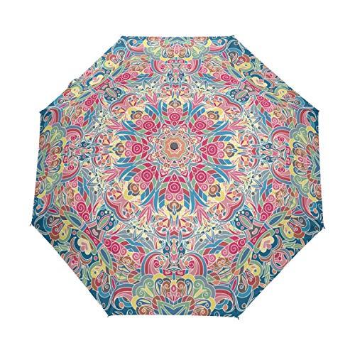 senya Vintage Decorative Umbrella Windproof Rain Automatic Open Close Folding Travel Anti-UV Sun Umbrellas ()