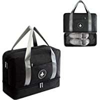 Sports Duffle Gym Bag with Shoes Compartment, Waterproof Dry Wet Holdall Hanging Storage Bag Tote Bag for Men & Women, Gym, Travel, Swimming, Training, Overnight, Outdoor