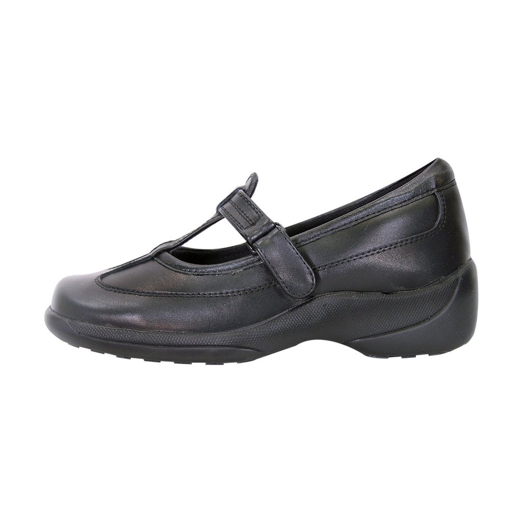 24 Hour Comfort  Liz (2008) Women Extra Wide Width Leather T-Strap Mary Janes Black 7.5 by 24 Hour Comfort (Image #2)