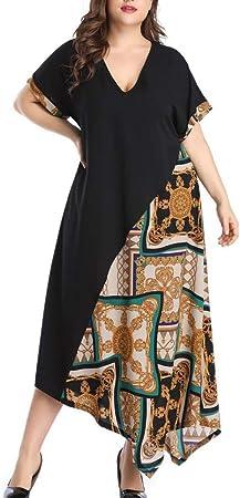Lady Dress Plus Size Split Holiday Loose Sundress Long A Line Tassel Baggy Swing