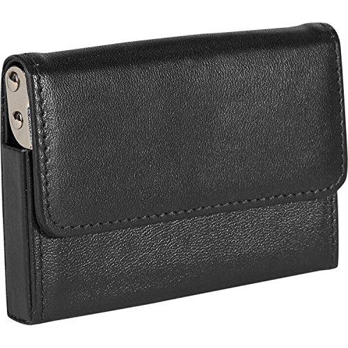 Royce Leather Horizontal Framed Card Case (424-BLACK-5) ()