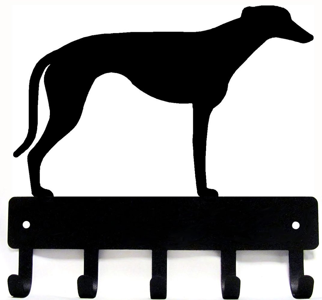 Greyhound Key Rack & Dog Leash Hanger - Small 6 inch