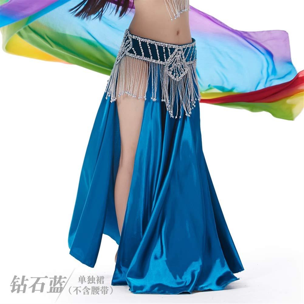 Insun Danza del Vientre Satén Faldas Largas Vestidos de Mujer Azul ...