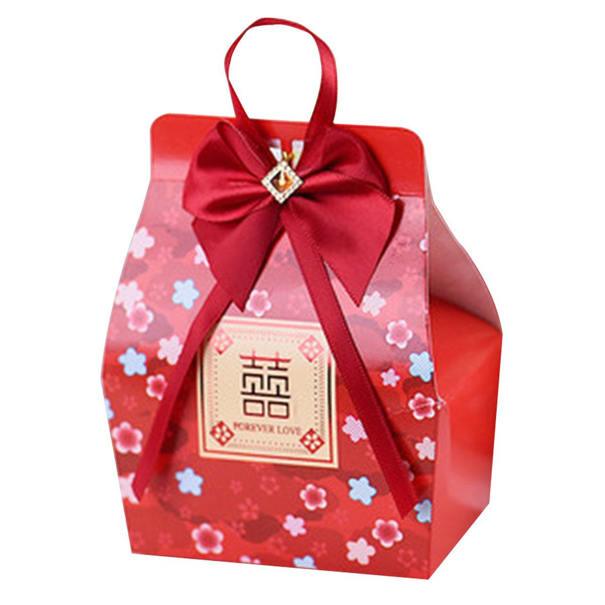 Amazon.com: Red Paper Box Candy Gift Boxes With Gold Double ...