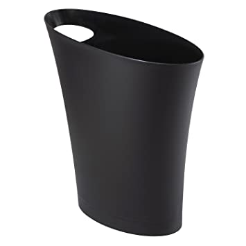 umbra skinny trash can u2013 sleek u0026 stylish bathroom trash can small garbage can wastebasket