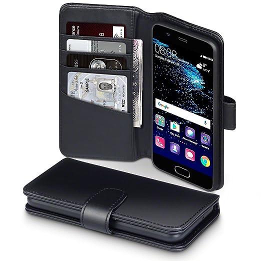 9 opinioni per Huawei P10 Cover, Terrapin di Vera Pelle Della Cassa del Raccoglitore con