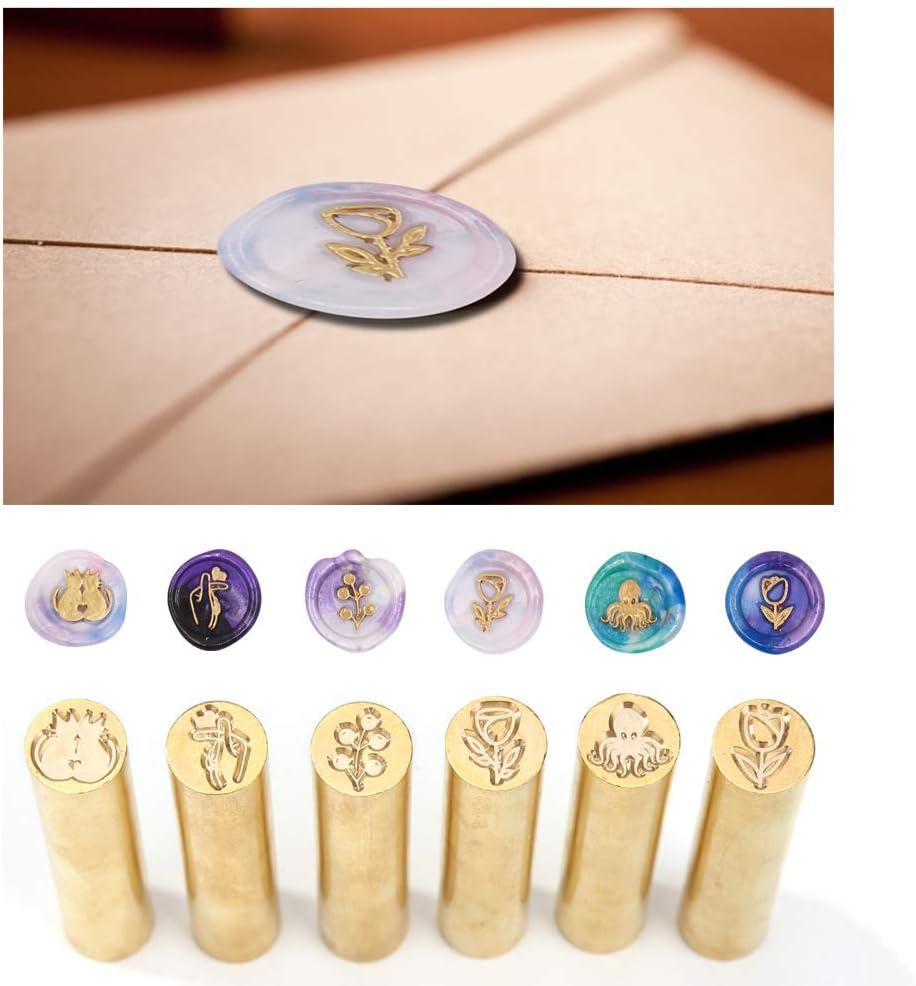 Geschenkkarten Metall Einladungen Siegelwachsstempel f/ür Partys Prosperveil Siegelstempel f/ür Hochzeit Weihnachten Briefumschl/äge Vintage Papierhandwerk Beeren