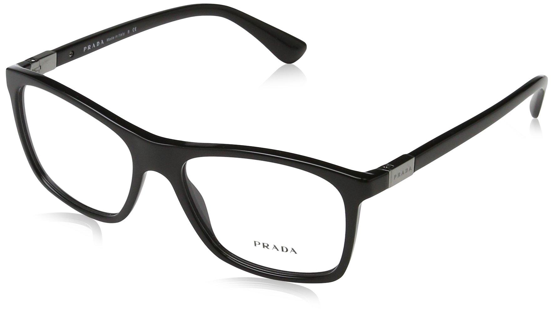 Prada PR05SV Eyeglass Frames 1AB1O1-55 - Black PR05SV-1AB1O1-55