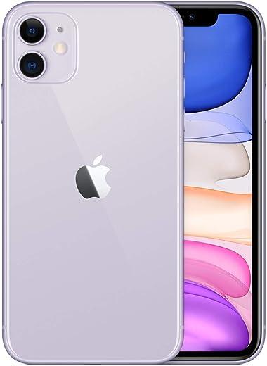 Apple iPhone 11, 64GB, Purple - Fully Unlocked (Renewed)