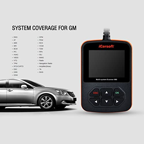 Whether you're trying to turn off the Check Engine Light, retrieve trouble codes or run system tests, the iCarsoft i900 will deliver.