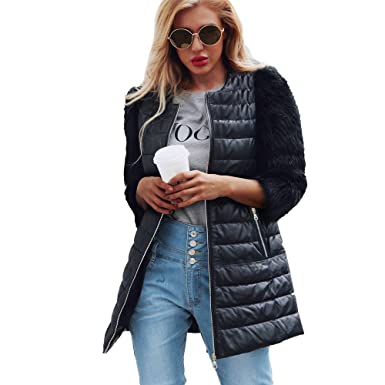 HYIRI Womens Warm Zipper Coat Jacket, Classic Parka Outerwear