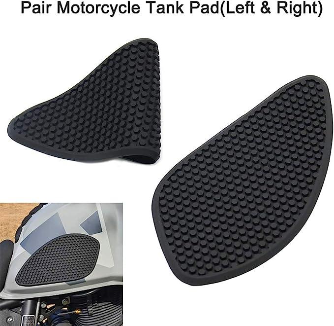 Gecheer 2pcs Motorrad Tank Pads Universal Motorrad Seitengasknie Grip Schutz Für Suzuki V Strom Dl650 Dl650xt Dl1000 Auto