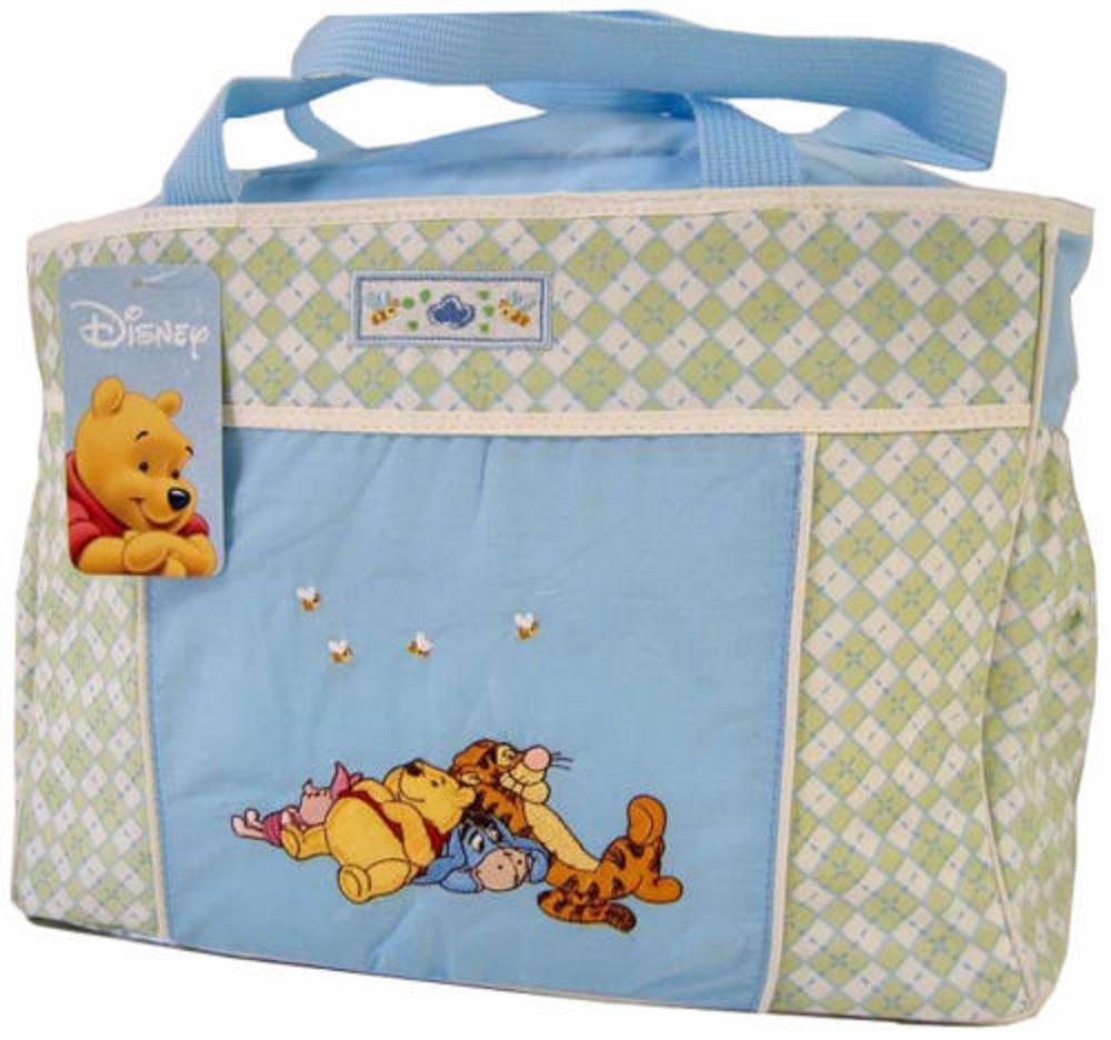 Disney Winnie The Pooh Blue Green Baby Large Tote Diaper Bag Mini Diaper Bag