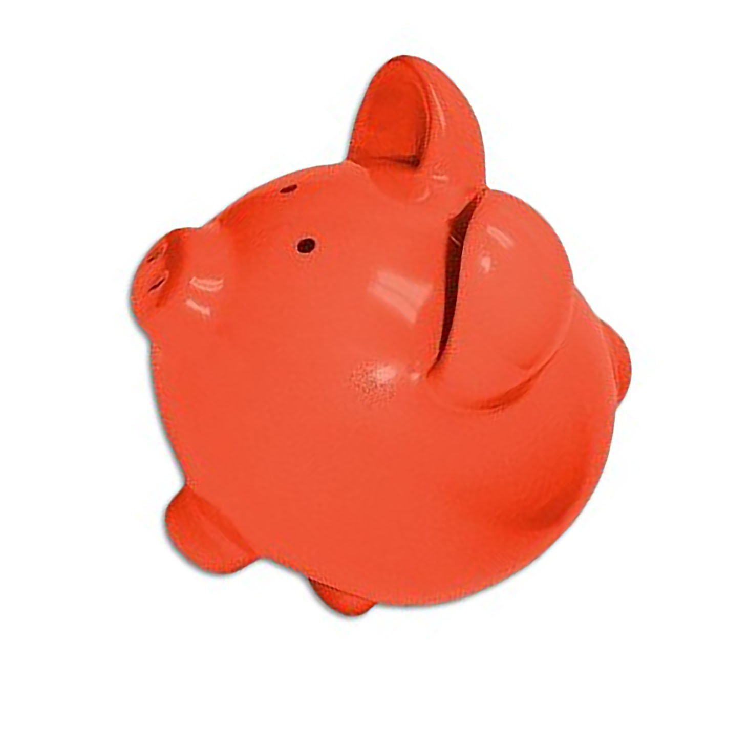 """Completely Custom {13"""" x 13'' Inch} 1 Single Large, Coin & Cash Bank Decoration for Holding Money, Made of Grade A Genuine Ceramic w/ Contemporary Solid Colored Bank Piggy Style {Orange & Black} by mySimple Products (Image #1)"""