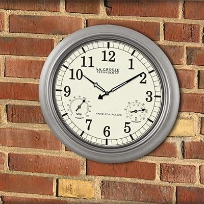 La Crosse Technology Atomic Outdoor 18 in. Wall Clock
