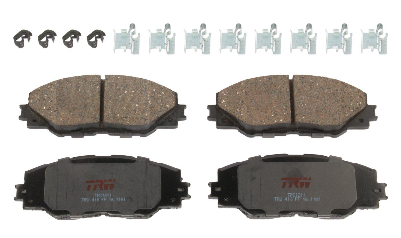 TRW TPC1211 Premium Ceramic Front Disc Brake Pad Set