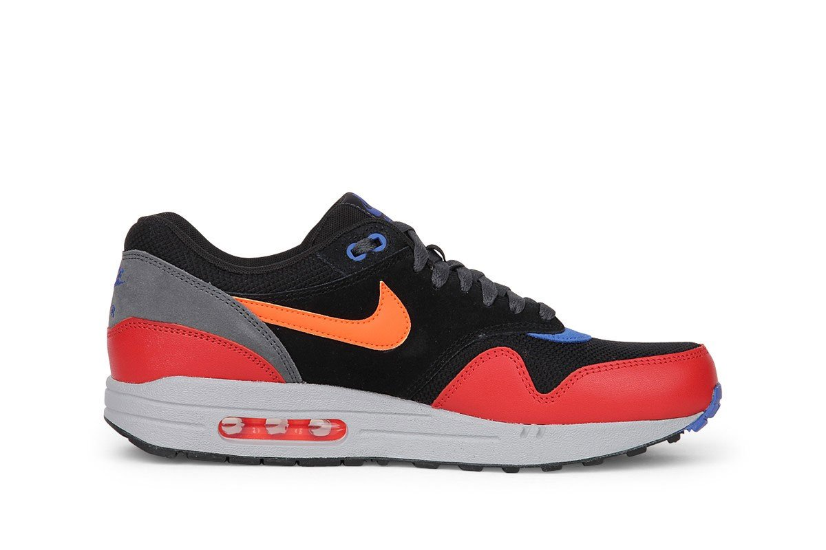 NIKE Air Max 1 One Essential Sneaker different colors, EU Shoe Size:EUR 42,  Color black/red/blue/white 63-050