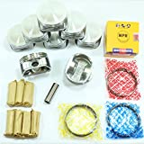 Premium Quality Pistons + Rings Kit 2000-2010 (00-10) Chr...
