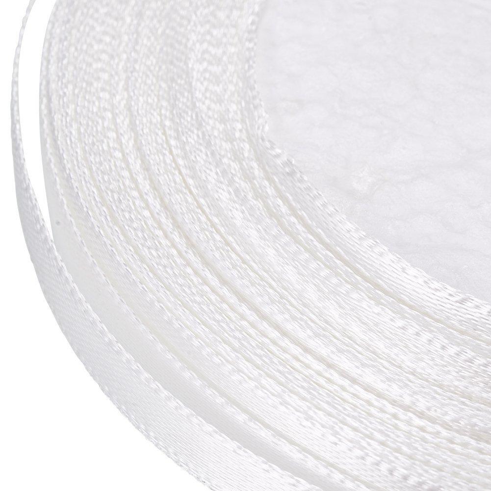 Nastro in raso Bianco 6 mm x 100 metri