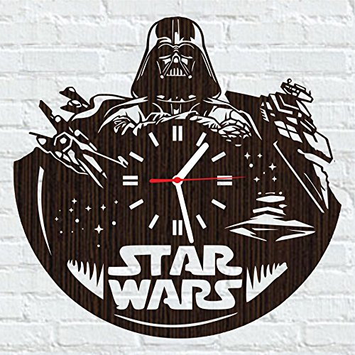 Wooden wall clock star wars darth vader comic birthday party decorations | Unique gifts ideas | Creative home (Into The Woods Costume Ideas)