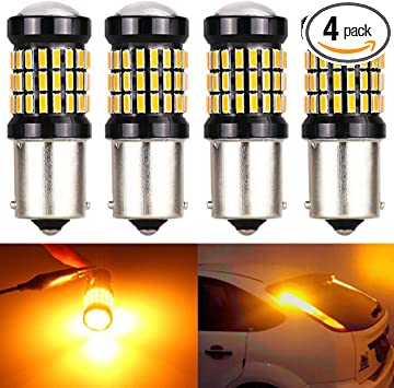 2-Pack 1156PY 1056 BAU15S 7507 12496 PY21W Extremely Bright Amber//Yellow Non-Polarity LED Light 9-30V-DC 2835 21 SMD Replacement For Turn signal Blinker Light Tail Stoplight Bulbs