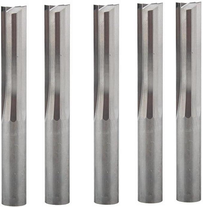 10 Stueck 3,175 Mm Hartmetall Schaftfraeser Gravierstichel 1 Flöte Fuer CNC