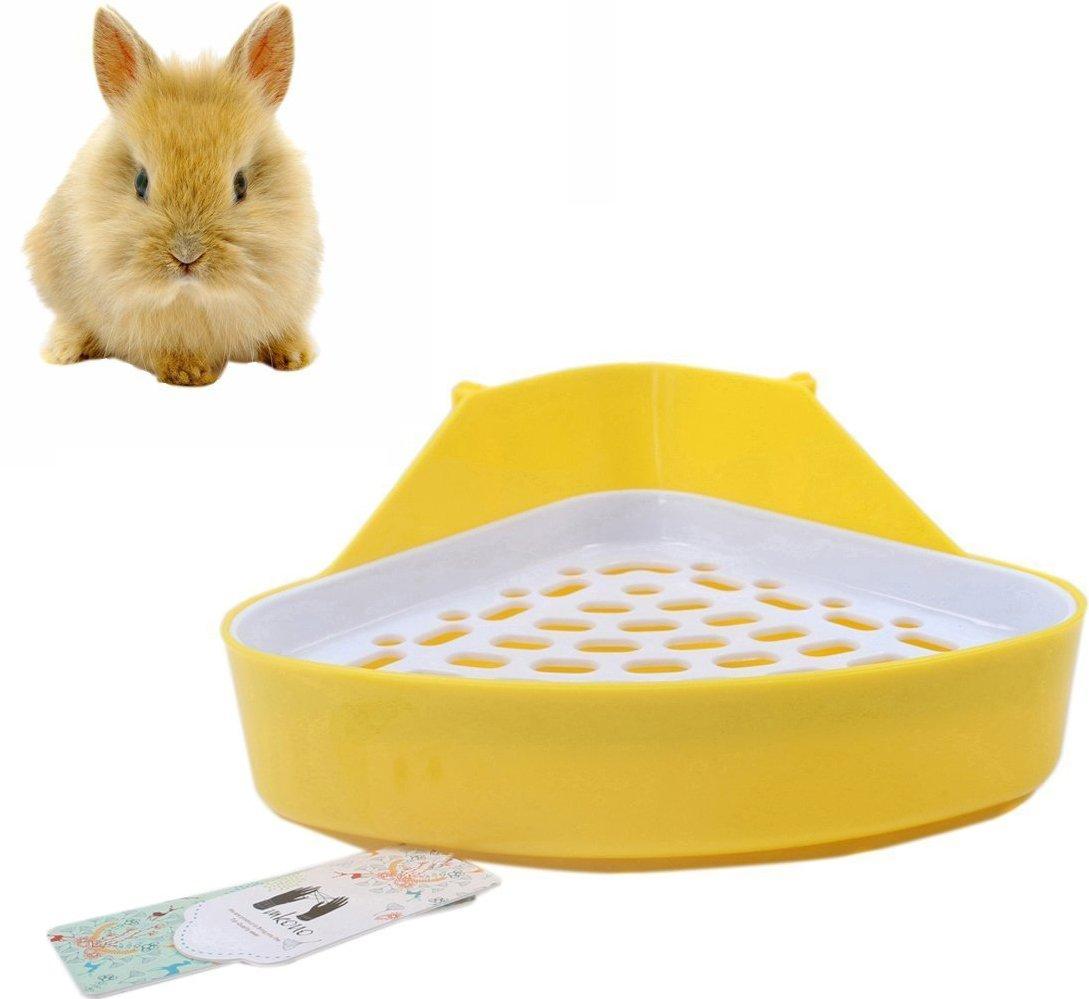 Mkono Potty Trainer Corner Litter Box for Hamster Guinea Pig Ferret Gerbil Chinchilla (Random Color)