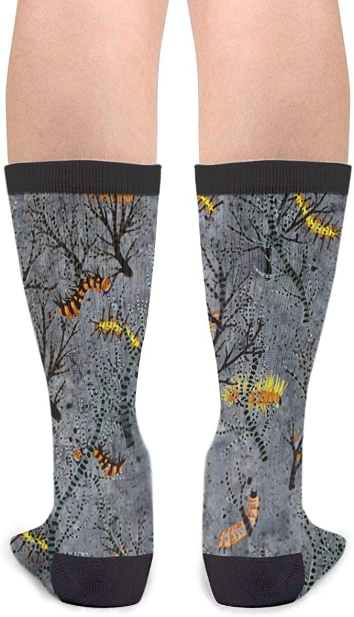 YISHOW A Caterpillar That Eats Young Trees Athletic Socks Party Accessory