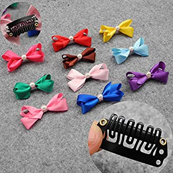 Mix Dog Grooming Bows Dog Hair Accessories Pet Hair Tie Dog Bow Clips Ribbon Bow Short Hair Can Also Be Used Amazon In Home Kitchen
