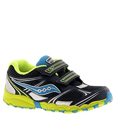 63049d168c Saucony Boys Blue/Citron/Silver Baby Catalyst HL Running Shoe (Toddler)  Size 5 Wide