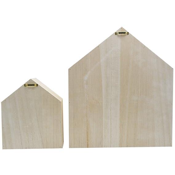 Amazon.com: Da Jia - Estantería de madera con forma de casa ...