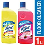 Lizol Disinfectant Floor Cleaner - 500 ml (Citrus) with Lizol Disinfectant Floor Cleaner - 500 ml (Floral)