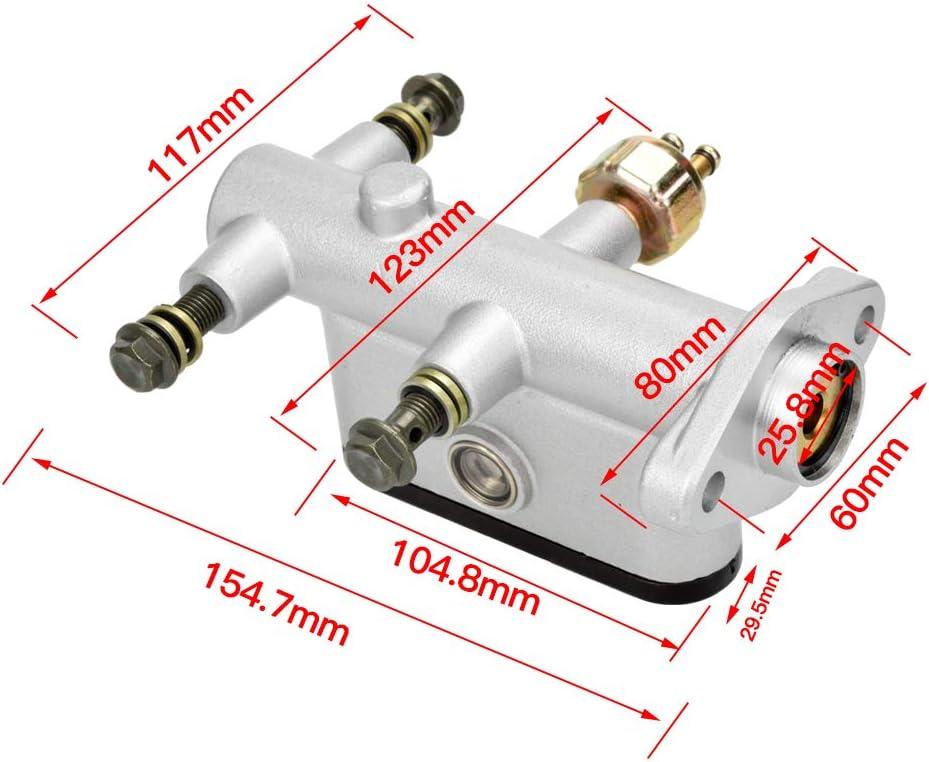 HIAORS Hydraulic Brake Master Cylinder for Hammerhead Twister 150cc Sunl Bms Kandi Roketa Kazuma Kinroad Taotao 90cc 110cc 125cc 150cc 200cc 250cc Go Kart Buggy