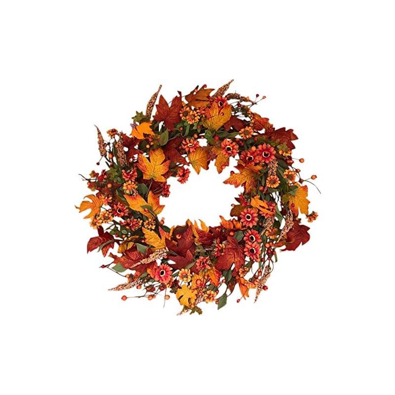 silk flower arrangements the wreath depot bainbridge fall door wreath 22 inch, beautiful white storage gift box