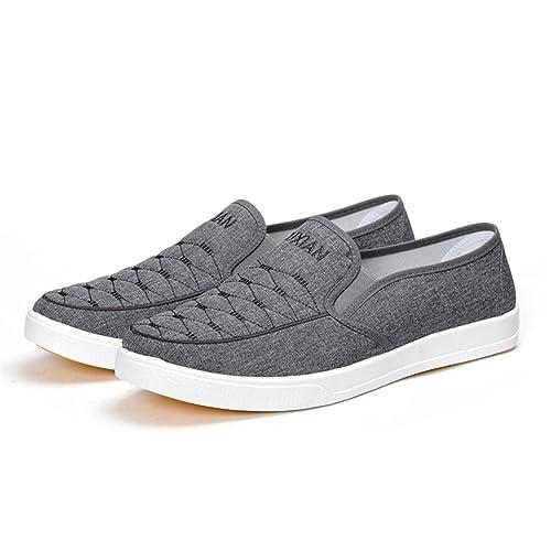Zapatos de Lona de los Hombres 2018 Mocasines y Deslizador Planos de la Primavera del Verano