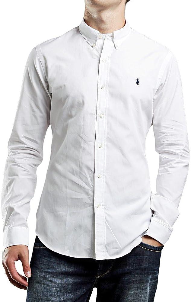 Polo Ralph Lauren - Camisa Formal - para Hombre Blanc - Blanc S: Amazon.es: Ropa y accesorios