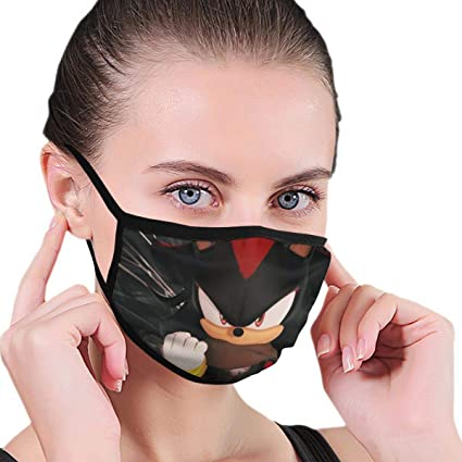 Amazon Com Px Shopping Street Skin Friendly Mouth Mask For Boys Girls Shadow The Hedgehog Sonic Boom Face Masks With Elastic Ear Loops Windproof Farmer New Year Cool Warm Masks Sports